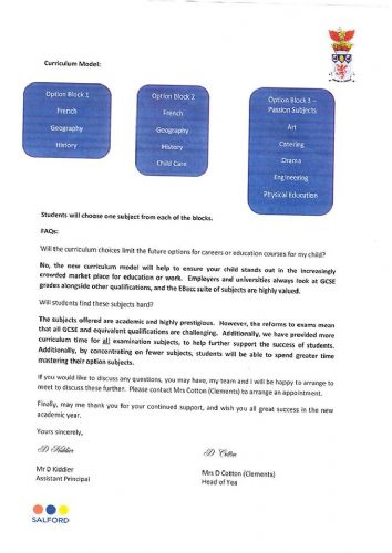 Click to view Irlam and Cadishead College letter to parents