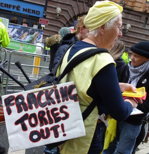 Click to view Tories told to `Frack Off' at Conservative Party Conference