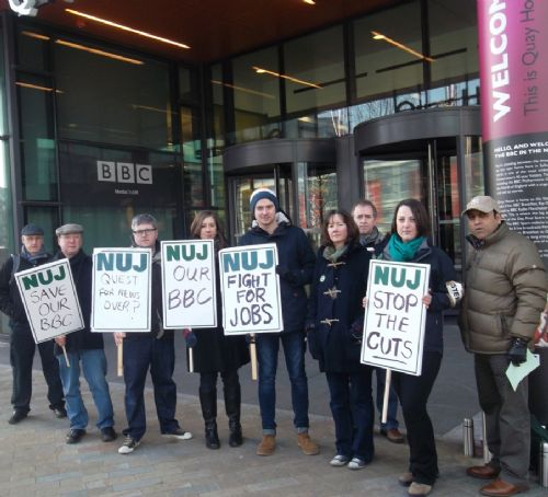 Click to view BBC STRIKE AT MEDIACITYUK SALFORD