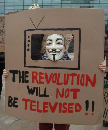 Click to view Protest Against BBC Bias MediaCityUK Salford