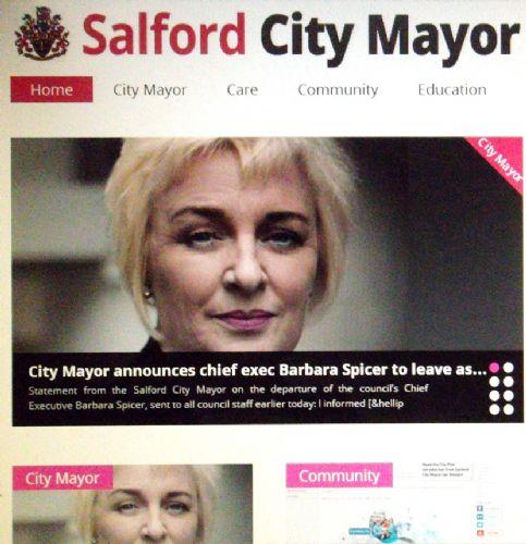 Salford City Programme Gainsborough: SALFORD CITY MAYOR ON BARBARA SPICER DEPARTURE