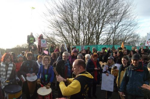 Click to view Barton Moss Anti Fracking Rally Salford