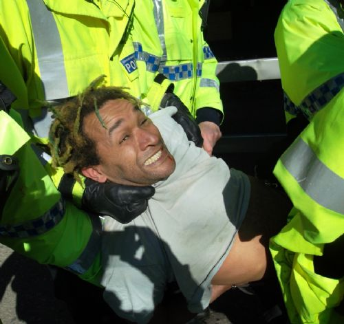 Click to view GMP POLICING BARTON MOSS PROTESTS SALFORD