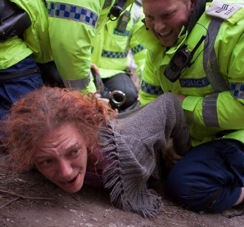 Click to view Barton Moss Anti Fracking Protest Salford