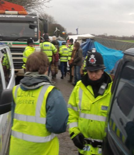 Click to view Barton Moss Anti Fracking Protest 13th December 2013