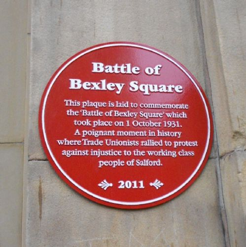 Click to view Salford Battle of Bexley Square Plaque
