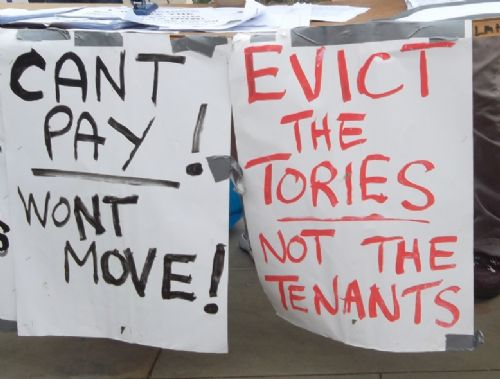 Click to view Axe The Bedroom Tax Protest GMex