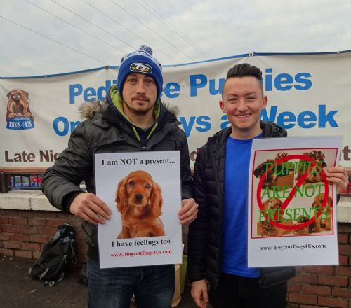 Click to view BoycottDogs4Us Protest in Salford