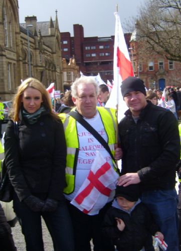 Click to view Catherine Tyldesley and Jamie Moore on the march to Save St George's