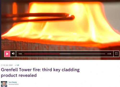 Click to view Channel 4 News Kooltherm Fire Test