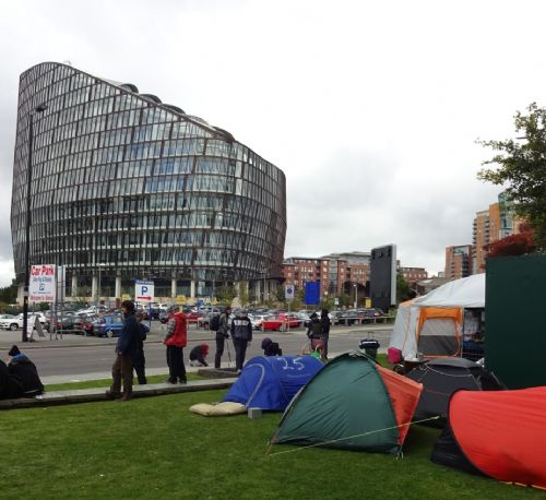 Click to view Co-op Eviction of Homeless in Tents