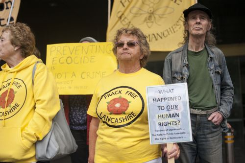 Click to view Cuadrilla Court Protest Manchester