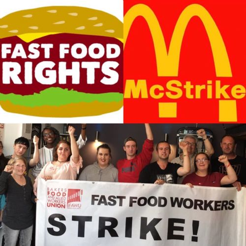 Click to view McDonald's Strike UK