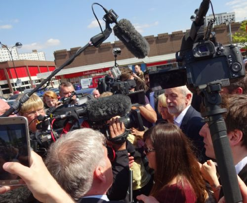Click to view Jeremy Corbyn on Salford Precinct