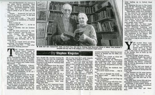 Click to view MEN article on Engels centenary 1995