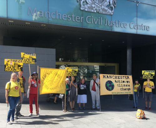 Click to view Frack Free Greater Manchester court protest