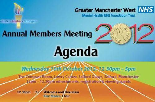 Click to view Greater manchester West Mental Health Trust Annual Members Meeting