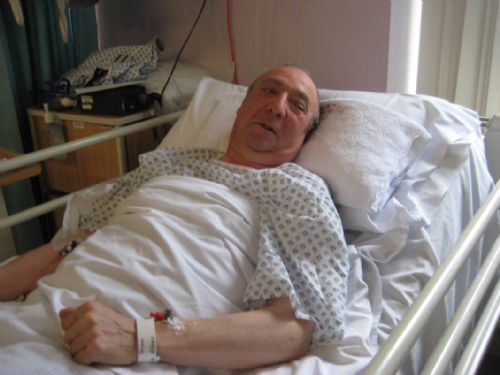Click to view Salford campaigner George Tapp at the MRI