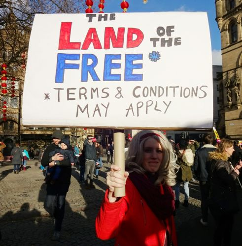 Click to view Greater Manchester Anti-Trump Rally and March