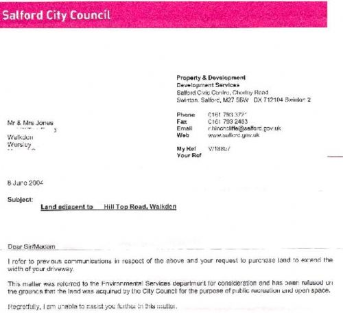 Click to view Salford Council Letter