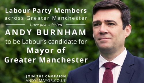 Click to view Andy Burnham Labour Party GM Mayor candidate
