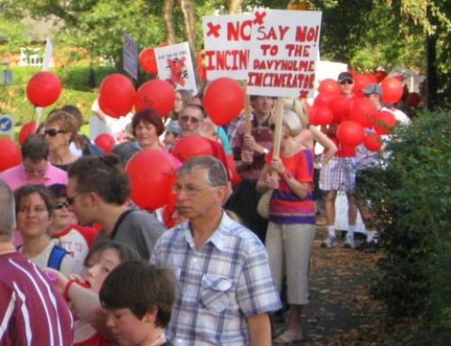 Click to view Peel Holdings Incinerator Protest