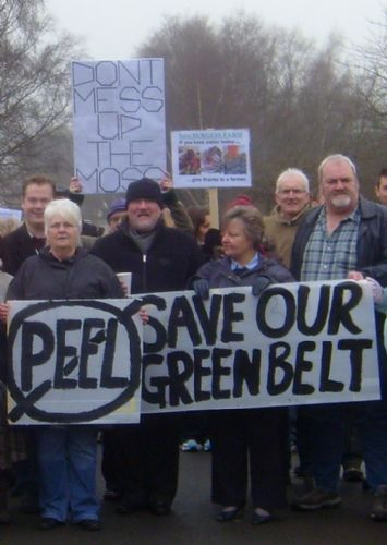 Click to view City Mayor Ian Stewart on Demo Against Peel Holdings