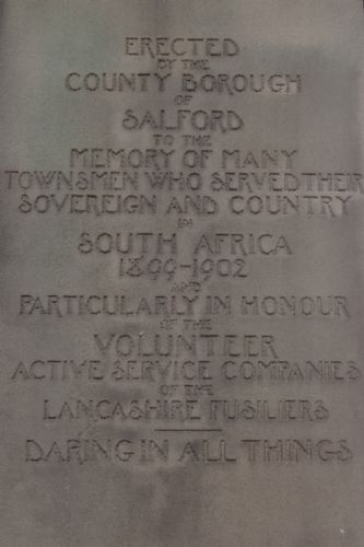 Click to view Salford Fusiliers Monument