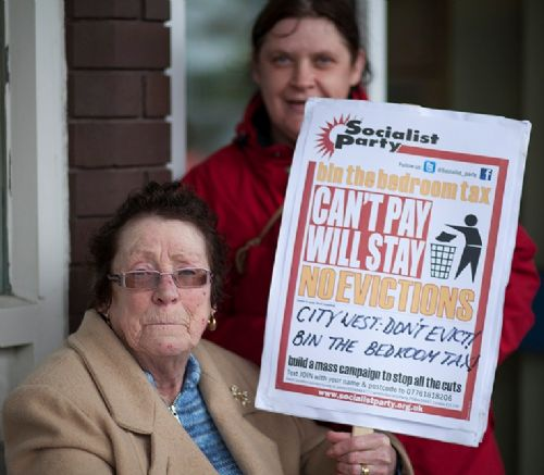 Click to view Bedroom Tax Protest Salford