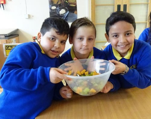 Click to view Lower Kersal Primary School gets Food Smart with Amanda Ursell