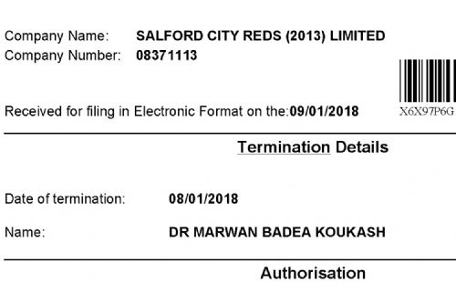 Click to view Marwan Koukash terminated as Salford Reds Director