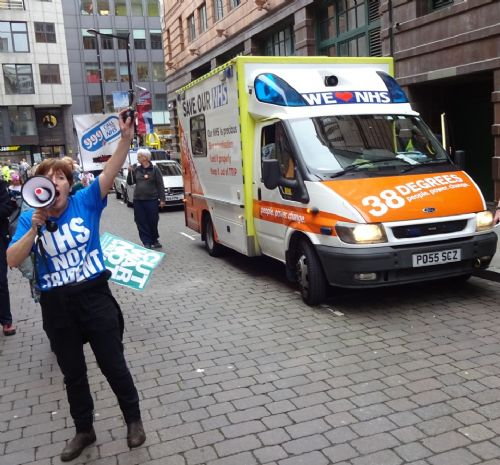 Click to view NHS Protest at Tory Party Conference