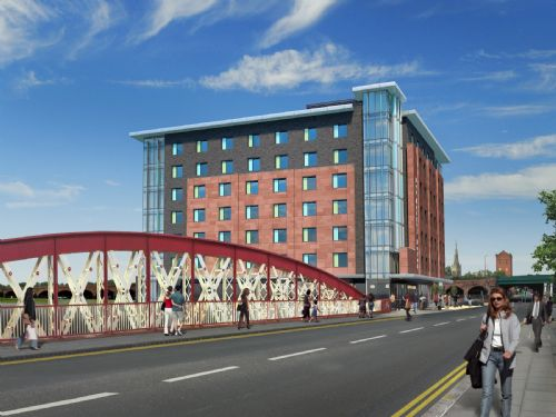Click to view Artists Impression of New Bailey Hotel
