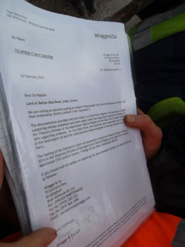 Click to view Barton Moss Eviction Notice