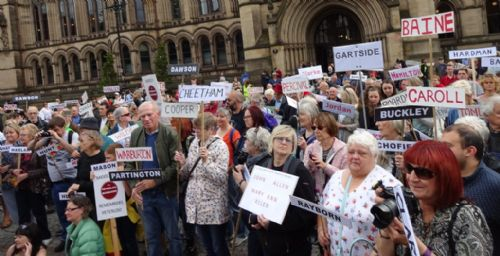 Click to view Peterloo Massacre Memorial Manchester 2017