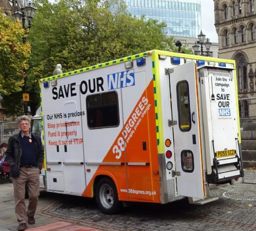 Click to view Save Our NHS ambulance