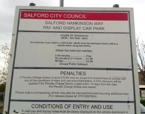 Click to view Salford Precinct Parking