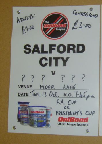 Click to view Salford City v Hyde United FA Cup