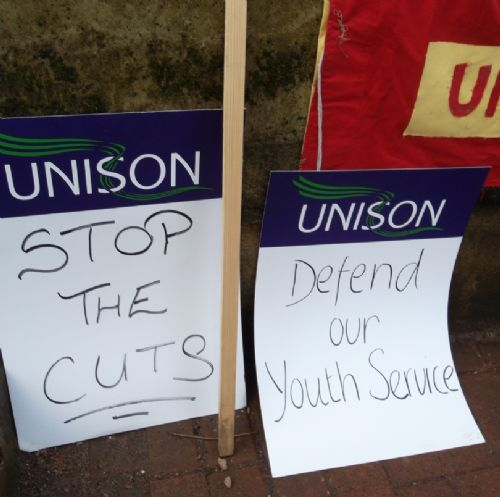 Click to view Salford Council Cuts Meeting