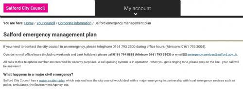Click to view Salford Council's Emergency Plan