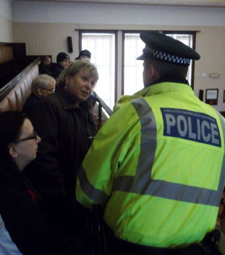 Click to view Salford Anti Cuts Protesters Ejected from Salford Council Chamber