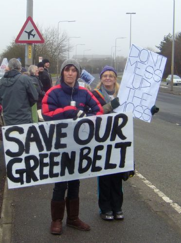 Click to view Green Belt Demo Against Peel Holdings