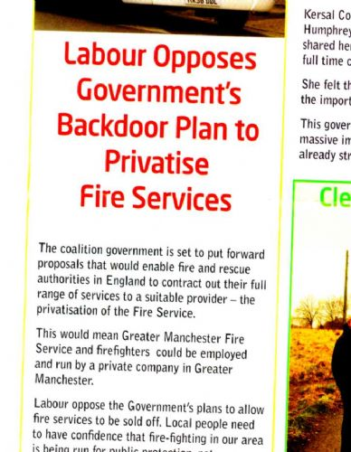 Click to view Labour Voice Don't Privatise Article