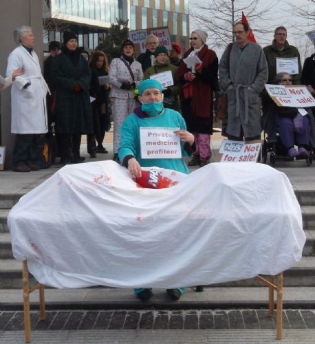 Click to view MediaCityUK NHS Protest April 2013