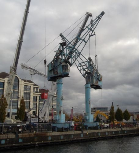 Click to view Salford Quays Cranes Demolition