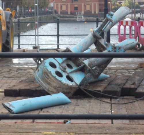 Click to view Salford Quays Cranes Trashed