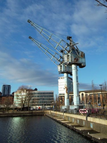Click to view Salford Quays Cargo Cranes to be demolished in 2013