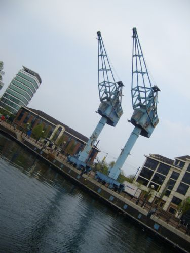 Click to view Salford Quays Cranes demolished