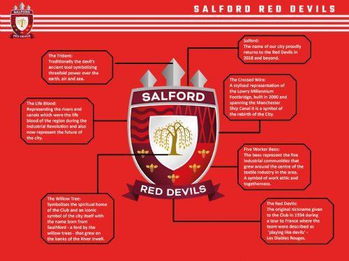 Click to view Salford Red Devils new crest