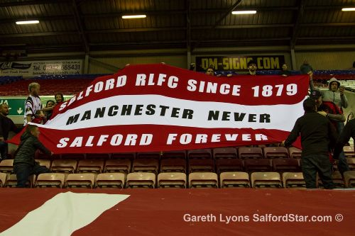 Click to view Salford Red Devils fans oppose Manchester addition